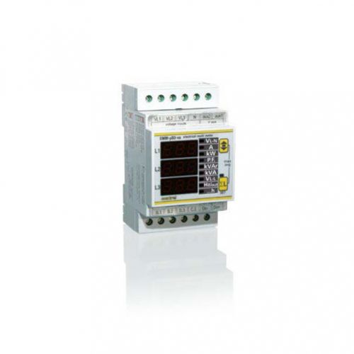 Multifunctionele Energie meter EMM-uD3h DIN rail 3 modules